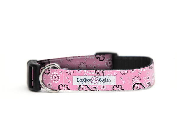 Pink Bandana Bow Tie Collar Set