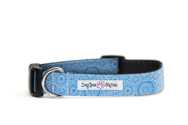 Blue Circles Dog Collar