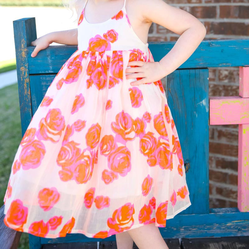 Fruit Punch Floral Criss Cross Sundress