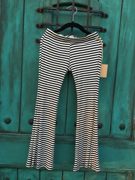 Ivy Bell Bottom Pant Black/White