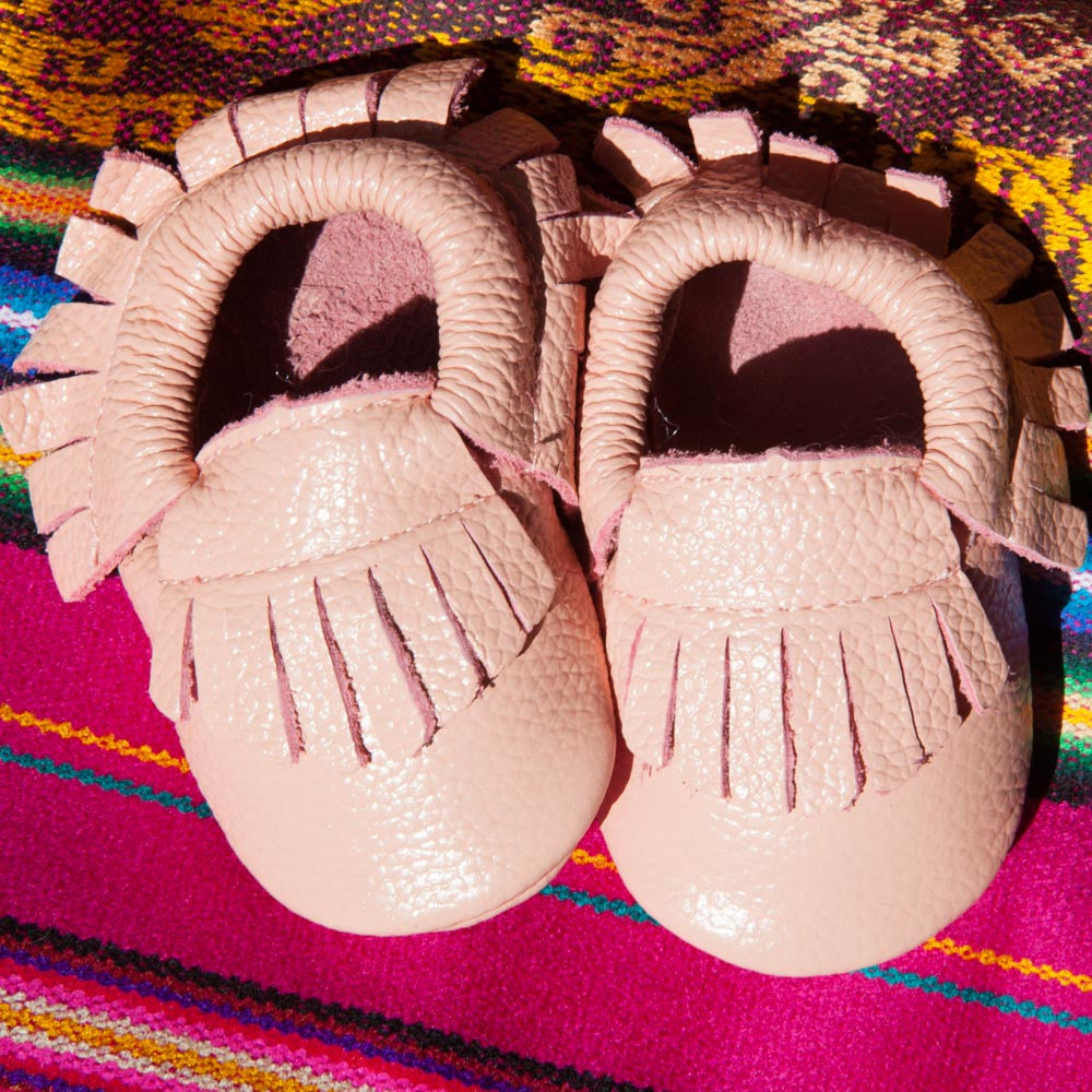 Pink Butter Moccasins'