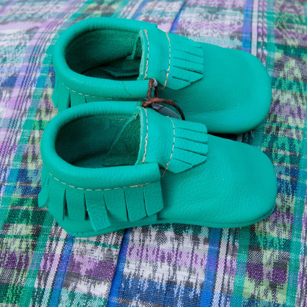 Teal-licious Moccasins
