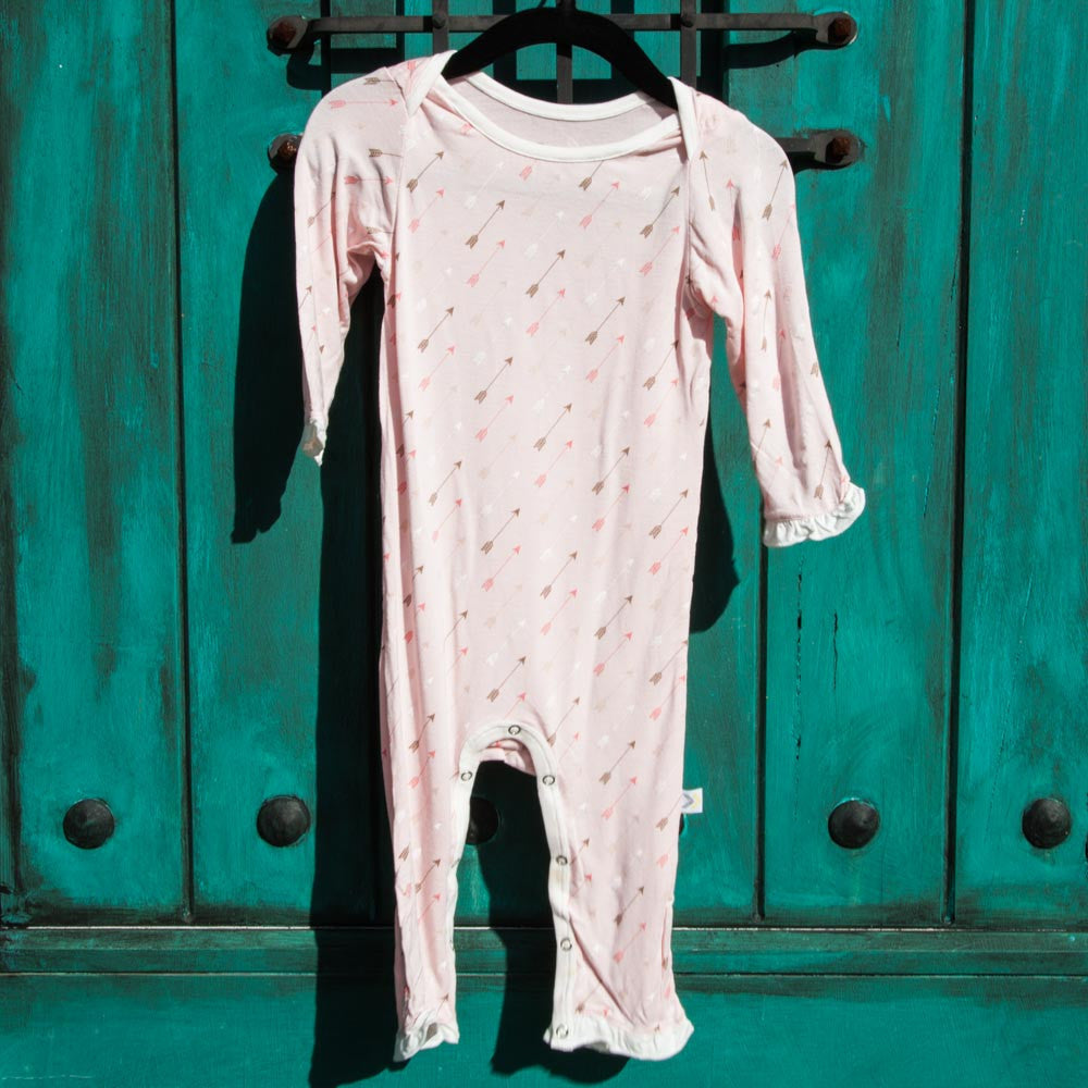 Sugar Pink Arrows W/Ruffles Coverall