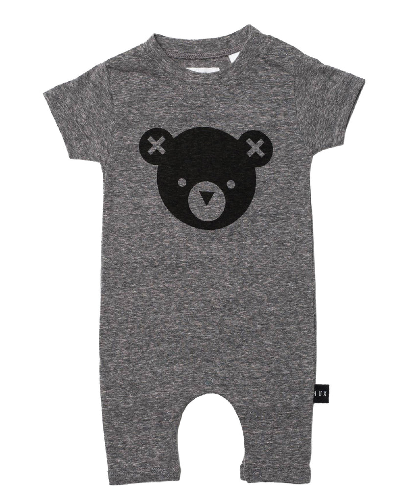 Bear Romper Onesie in Grey
