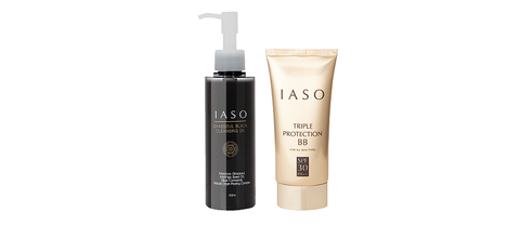 IASO Makeup & Cleansing Kit - Ghassoul Cleansing Oil + Triple Protection BB Cream SPF30/PA++