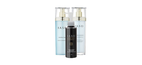 IASO Daily Care Bundle - Purifying Toner + Emulsion + Ghassoul Black Cleansing Oil