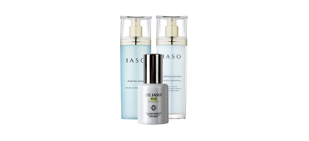IASO Blemish Care Bundle - AC Booster + Purifying Toner + Emulsion