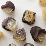 Close up photo of Chocolate Dipped Candied Ginger