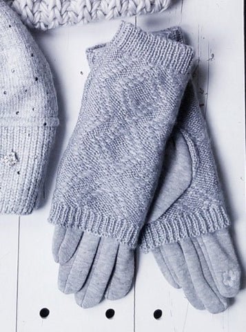 Knit Touchscreen Gloves - Grey