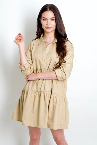 Jet Set Shirt Dress // Khaki