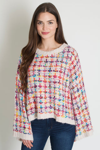Candy Tweed Sweater