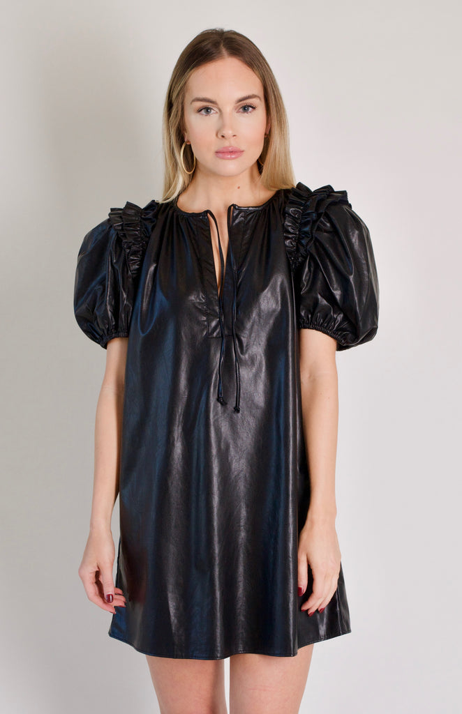 Stevie Leather Dress