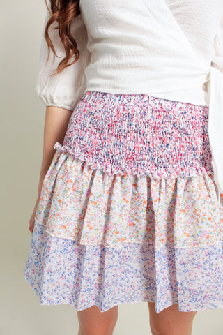 Lulu Smocked Floral Skirt