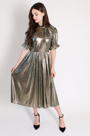 Metallic Luxe Dress