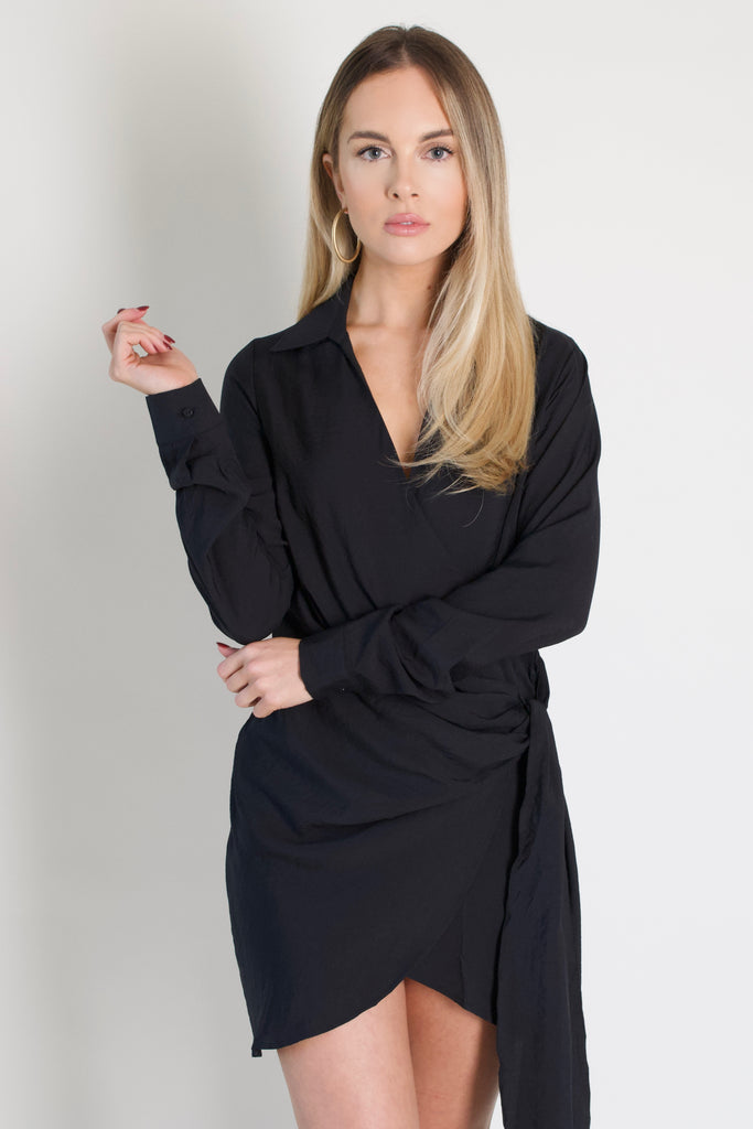 Little Black Shirt Dress
