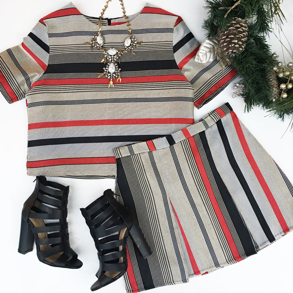 The Holiday Stripe Top