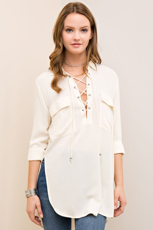 The Milan Cream Tunic