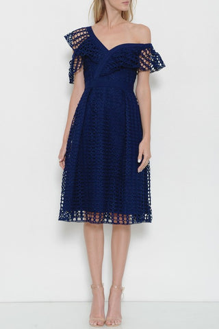 The Crochet Ruffle Midi Dress
