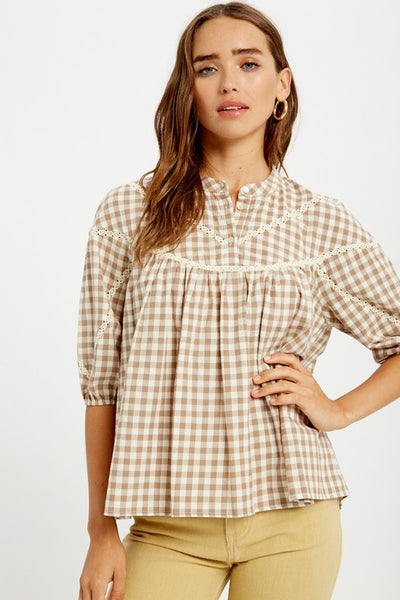 Playa Gingham Top