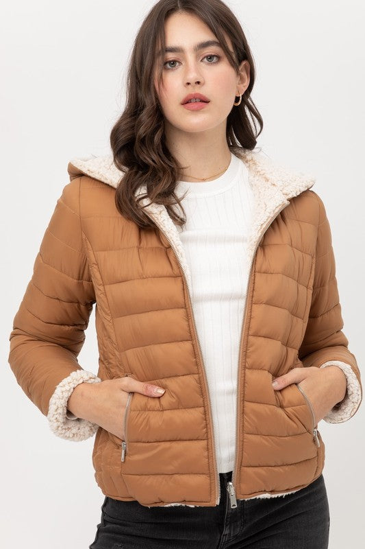 Reversible Puffer Jacket CAMEL