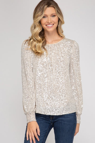 Catching Feelings Sequin Top