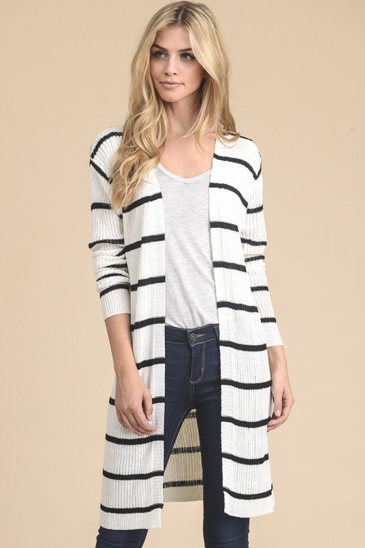 The Finley Stripe Cardigan