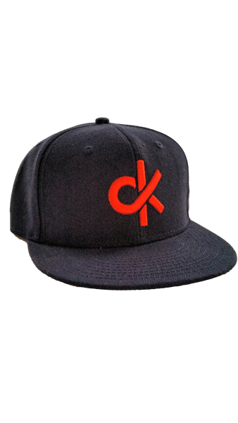 Navy with Orange CurbKit Logo, Snapback Cap