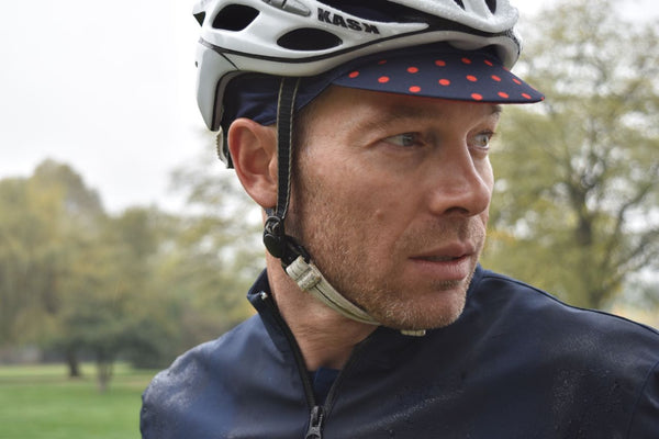 Navy Cycling Cap That Fits Under A Helmet