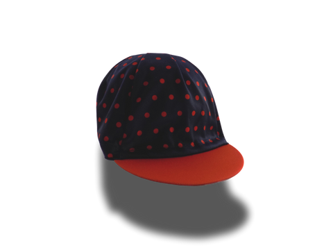 The Orange Polka Dot Carrall Cycling Cap