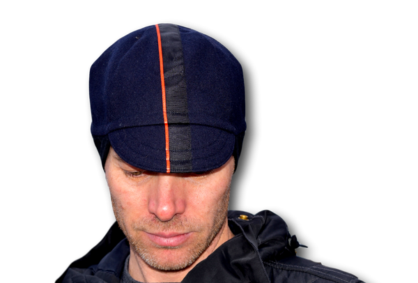 Navy and Black Winter Cycling Cap
