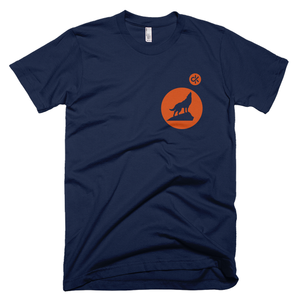 CurbKIt Howling Wolf Tee in Navy and Orange