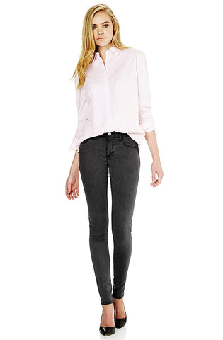 Alexa - Soft Grey Feather Jeans by Mavi - Picpoket