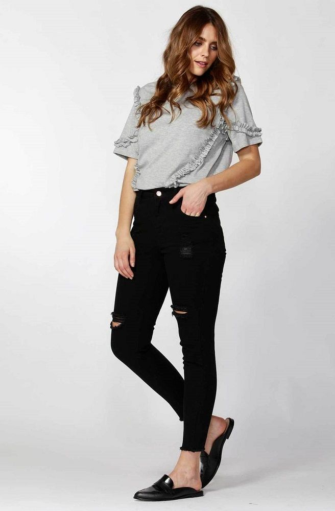 Angus Ripped Jeans - Black by SASS - Picpoket