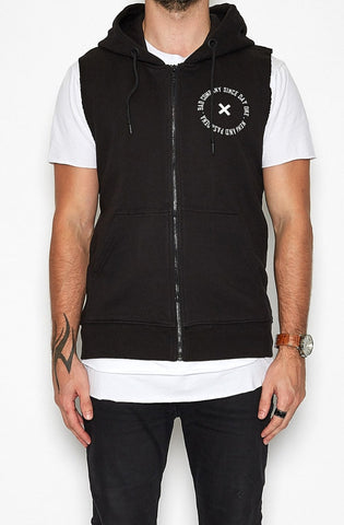 Bad Bones Zip Up Muscle Hoodie by Nena & Pasadena - Picpoket