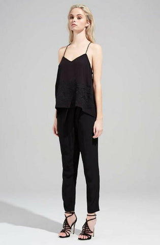 Cursive Pants - Black