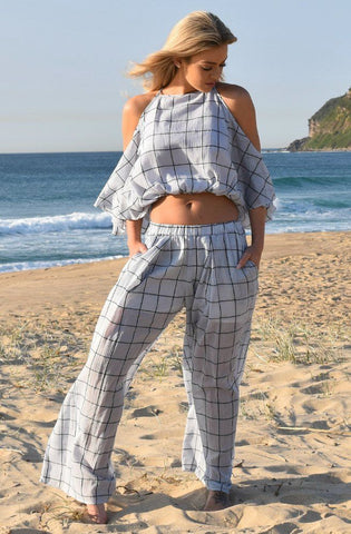 Choctaw Pants - Blue Check by Three Of Something - Picpoket