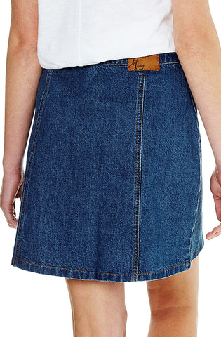 Ellie - Mid Indigo Denim Skirt