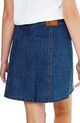 Ellie - Mid Indigo Denim Skirt by Mavi - Picpoket