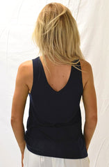 Garnet V Back Singlet by Nude Lucy - Picpoket
