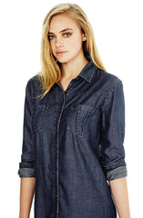 Hannah - Dark Indigo Shirtdress