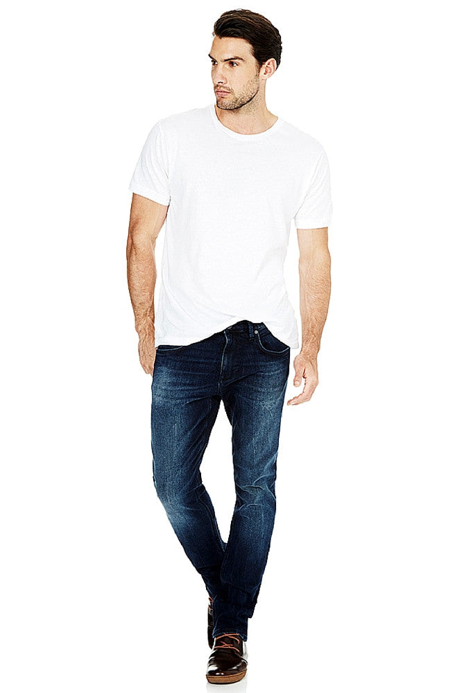 Jake - Ink Brushed White Edge Jeans by Mavi - Men - Picpoket
