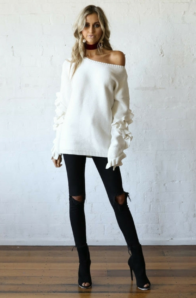 Hadid Ruffle Jumper by Madison Square - Picpoket