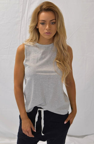 Marty Muscle Tank - Grey Marle