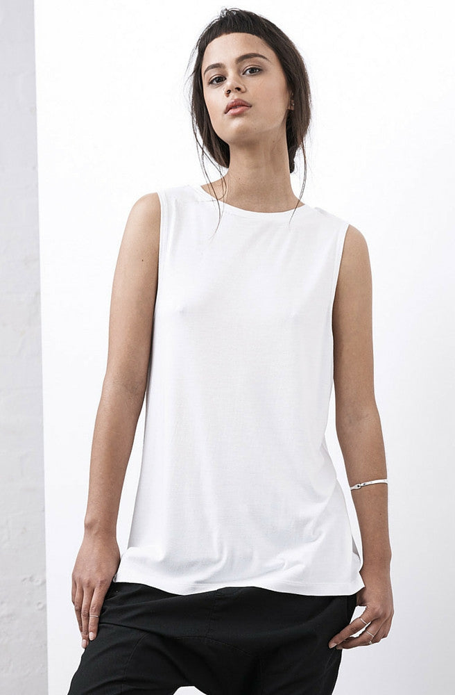 Marty Muscle Tank - White by Nude Lucy - Picpoket