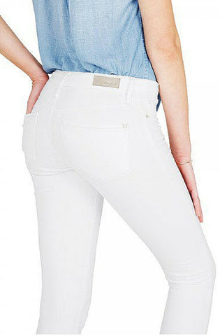 Kristy - High-Rise Super Skinny Crop Jeans - White