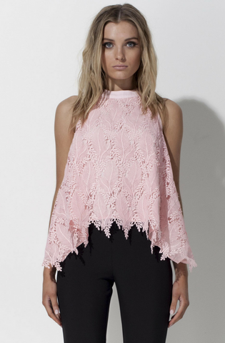 Eye Spy In The Meadows Top - Rose Quartz
