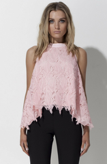 Eye Spy In The Meadows Top - Rose Quartz by Mossman - Picpoket