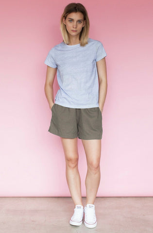Halle Relaxed Short - Khaki