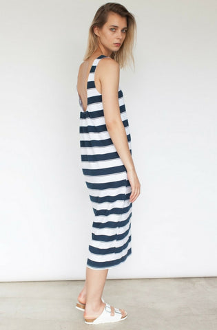 Jette Scooped Back Midi Dress - Stripe by Nude Lucy - Picpoket