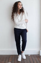 Zion Canvas Cropped Pant - Navy by Nude Lucy - Picpoket